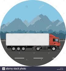 100 Design A Truck Semi Trailer Truck On The Mountain Road Vector Illustration Flat