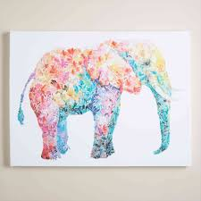 Canvas Art Ideas For Teenagers Elephants