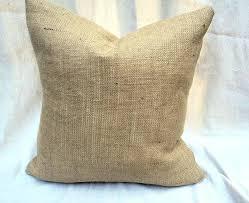 Rustic Throw Pillows Burlap Pillow Cover Lined X Decorative Interior Design Farmhouse Decor Home D