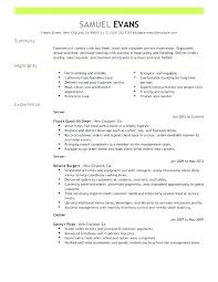 Food Service Manager Resume Examples Best Fast Server Example Of Summary Sample With Qualifications Format