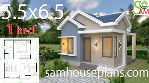 100 One Bedroom Design House Design Plans 55x65 With Gable Roof Sam House Plans