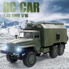 100 Rc Military Trucks B36 116 RC Cars Command Vehicle 24G 6WD Army Cars Toys