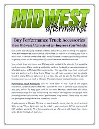 100 Truck Performance Chips Truck Accessories By Midwest Aftermarket Issuu