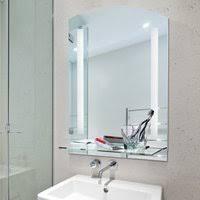 homcom led badspiegel wandspiegel aluminium