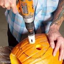 Pumpkin Carving Drill Bit pumpkin carving with power tools family handyman