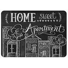 Amazon Premium Comfort Home Sweet Apartment Mat By Lily Val 22 X 31 Black White Kitchen