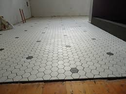 black and white hexagon bathroom floor tile best 25 hex tile
