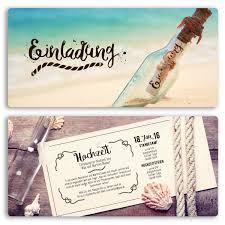 Einladungen Zur Hochzeit Flaschenpost Flasche Brief Post Karte