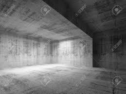 vide chambre vide sombre abstraite chambre de béton intérieur 3d render