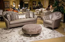 Michael Amini Living Room Sets by Maritza Channel Back Living Room Clear With Crystals By Michael Amini