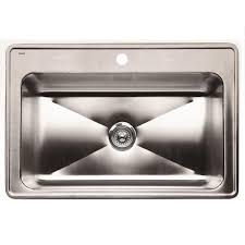 Overmount Kitchen Sinks Stainless Steel by Blanco Magnum Drop In Stainless Steel 33 In 1 Hole Single Bowl