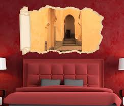 3d wandtattoo tapete tür eingang treppe ruine beige durchbruch selbstklebend wandbild wandsticker wohnzimmer wand aufkleber 11o1907
