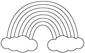 Download Coloring Pages St Patricks Day Rainbow With Clouds Page Patrick39s