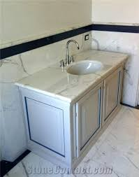 Ebay Bathroom Vanity Tops by Modern Carrera White Marble Top 36 Inch Single Sink Brown Bathroom