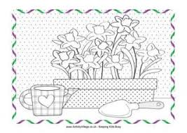 Spring Gardening Colouring Page