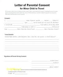 Parental Consent Form Template Unique Free Child Travel Printable Medical Release For Parents Rel