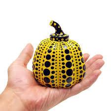 Yayoi Kusama Pumpkin by Object Pumpkin With Signature Box Paper Weight Art Goods Yayoi