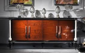 casa padrino luxus barock sideboard braun schwarz silber edler massivholz schrank mit 4 türen barock möbel