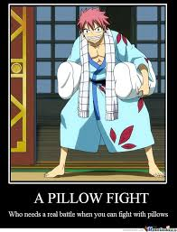 Pillow Fight by fairytail2020 Meme Center