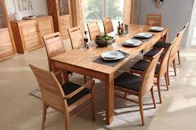 massivholz esszimmer komplett tisch 190x95 cm kernbuche massiv esszimmerstühle leder polster braun casade mobila