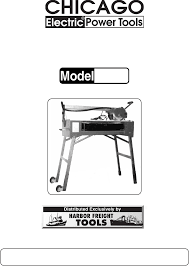 harbor freight tile saw manual harbor freight tools saw 92386 user guide manualsonline