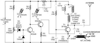 spy phone transmitter circuit schematic