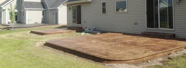 concrete patio appleton wi contact rock sold construction concrete 920 731 2904 appleton wi