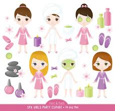 Spa Clip Art Girls Clipart Cute Party Manicure 44 Images