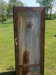 Rustic Barn Wood And Tin Gun Cabinet