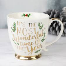 Spode Christmas Tree Mug And Coaster Set by Most Wonderful Time Of The Year U0027 Ceramic Christmas Mug Wonderful