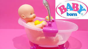 Baby Born Doll ❤ Lovely Doll Bath Tub Set Water Shower For Kids