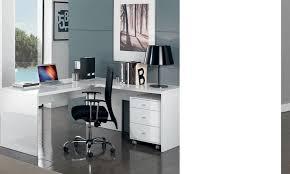 bureaux blanc laqué bureau laqué pas cher