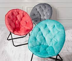 Dish Chair Sherpa Black by Just Home Saucer Chair Collection Big Lots