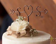 Rustic Cake Topper Wire Arrow By LeRusticChic