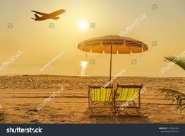 100 Wooden Parasols Beach Chairs On Tropical Stock Photo Edit