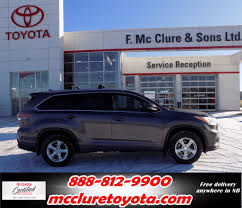 100 Collis Truck Parts Used 2015 Toyota Highlander XLE AWD In Grand Falls Used Inventory