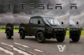 100 Truck Design Tesla Pickup With 500Mile Range To Be Unveiled This Summer