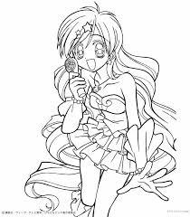 Hanon Mermaid Melody Coloring Page