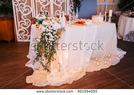 Wedding In The Style Rustic Table Decoration With Lamps And Candlestick Elegant Dinner