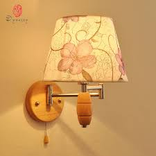 shop country style wall lights wooden fabric decorative