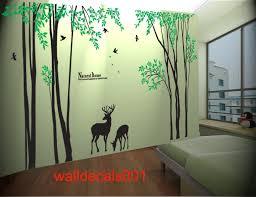 vinyl tree wall decal wall sticker birds decal deer decal