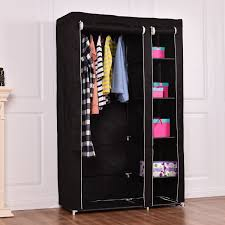 Costway 69 Portable Closet Storage Organizer Clothes Wardrobe Shoe