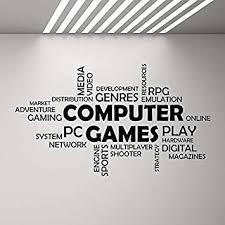 wortwolke computerspiel wand vinyl aufkleber junge