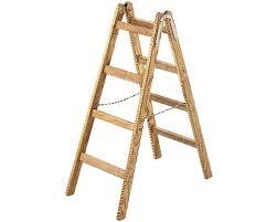 sprossenstehleiter holz riedel 2x4 stufen