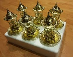 gold tea set turkish tea glasses coffee cups turkish glasses mug