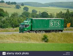 100 Rts Trucking Scania Truck With Curtainsided Trailer BTS Manchester Stock Photo