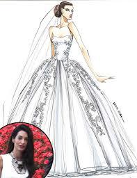 Amal Alamuddin Wedding Dress Sketch Reem Acra