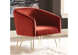 907129 Wine Red Accent Chair
