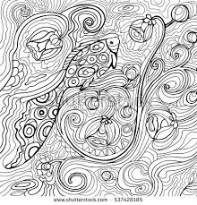 Fish And Waves Coloring Book For Adults Vector Illustration Anti Stress Adult