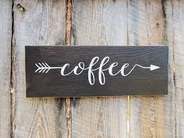 Rustic Home Decor Kitchen Sign Coffee By BearlyInMontana
